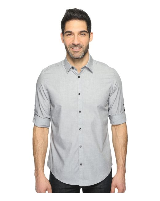 Calvin Klein | Gray Chambray Button Down for Men | Lyst