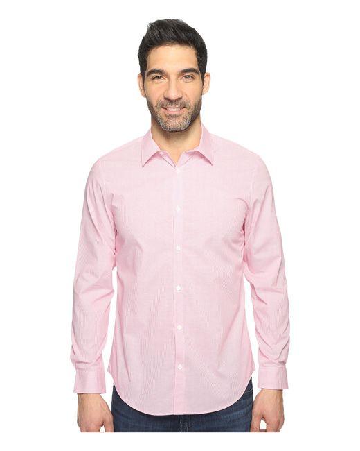 Calvin Klein | Pink Infinite Cool Check Button Down for Men | Lyst