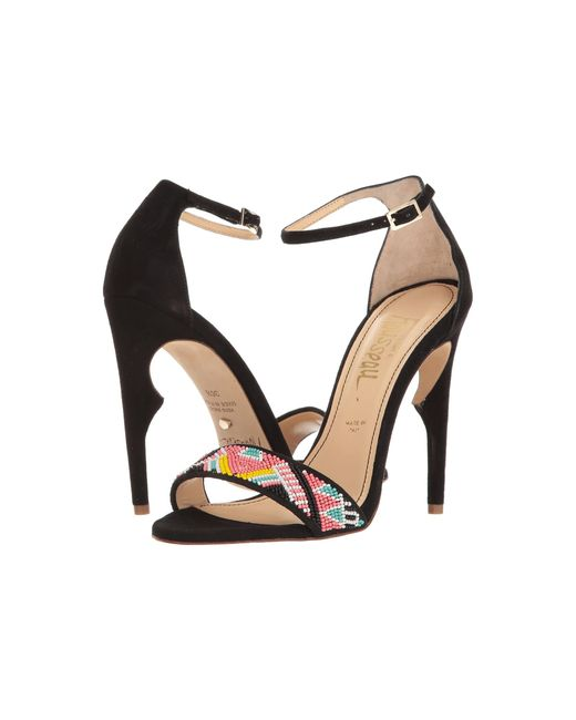 Jerome C. Rousseau | Black Malibu Beaded Ankle Strapped Heel | Lyst