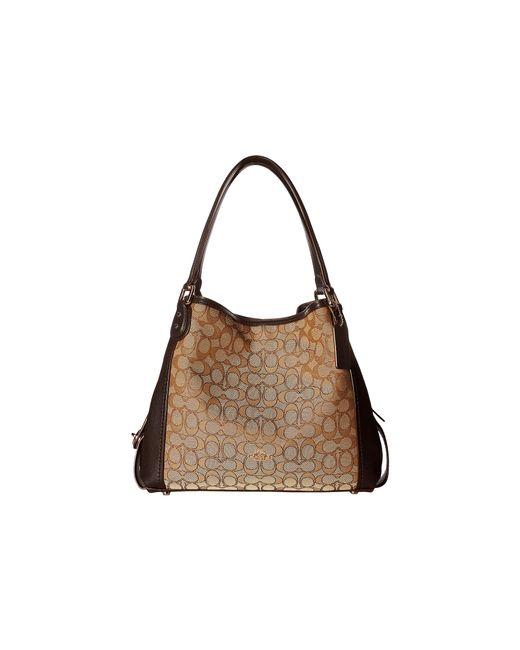 COACH | Brown Signature Edie 31 Shoulder Bag | Lyst