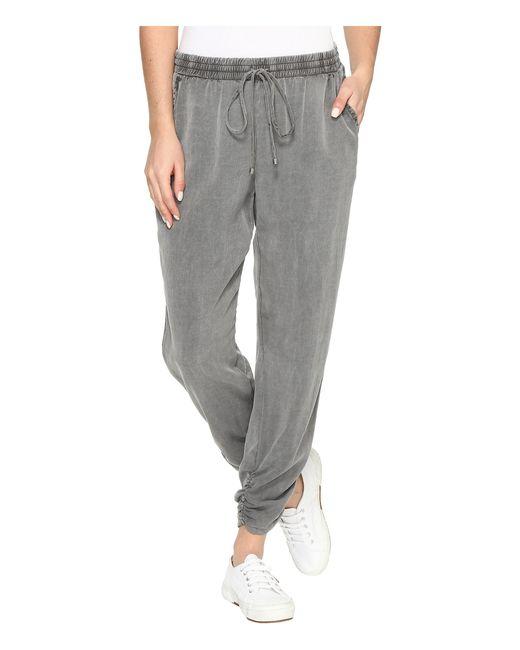 Splendid | Gray Wilder Side Ruched Pants | Lyst