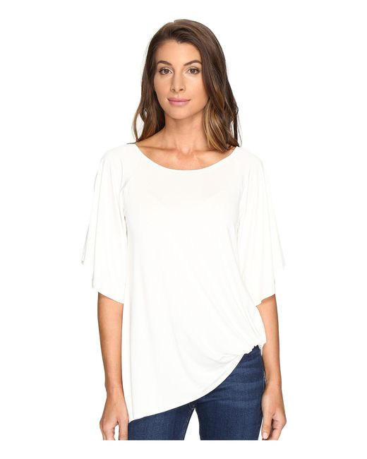 Karen Kane | White Split-sleeve Pick Up Top | Lyst
