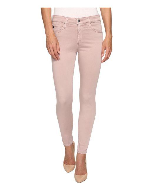 AG Jeans   Pink Farrah Crop In Sulfur Deco Mauve   Lyst