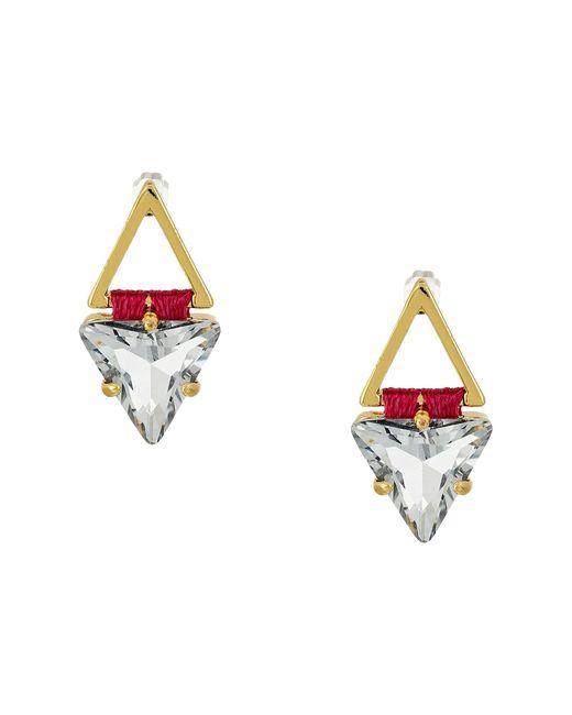 Rebecca Minkoff | Multicolor Thread Wrapped Geometric Stud Earrings | Lyst