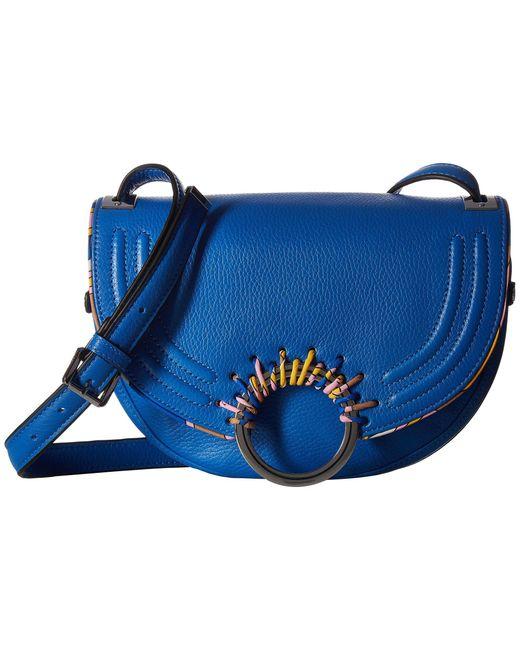 Sam Edelman   Blue Rio Half Moon Saddle Bag   Lyst