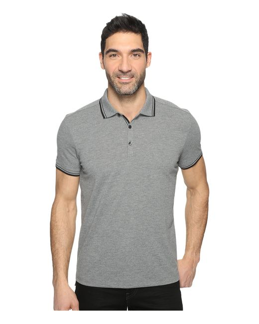 Kenneth Cole | Gray Polo With Tipping for Men | Lyst