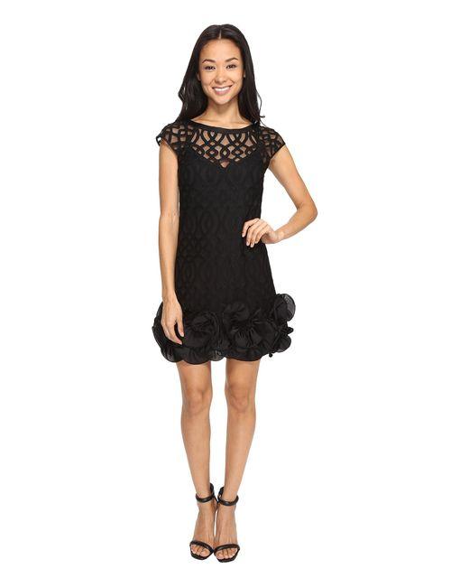 Jessica Simpson | Black Ruffle Bottom Dress | Lyst