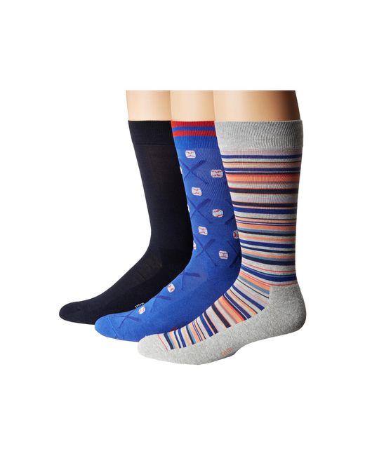 Hue | Blue Baseball Socks With Half Cushion 3-pack for Men | Lyst
