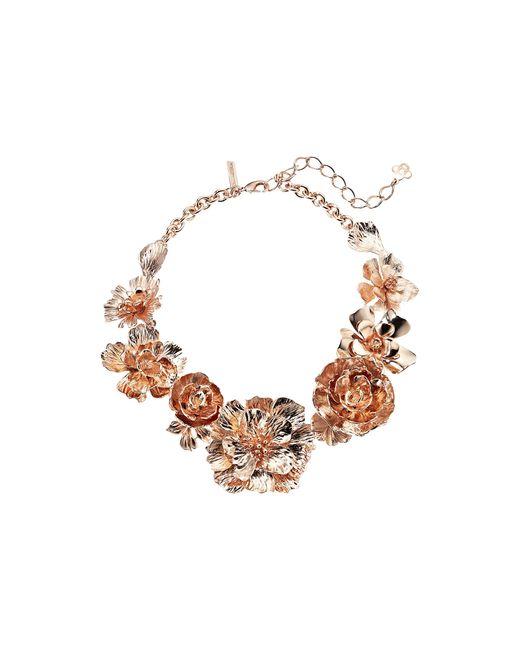 Oscar de la Renta   Multicolor Bold Flower Necklace   Lyst