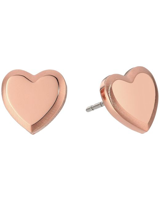 Michael Kors | Multicolor Tone Heart Stud Earrings | Lyst