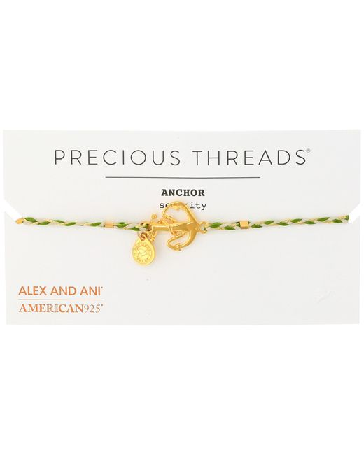 ALEX AND ANI | Metallic Precious Threads - Anchor Succulent Braid Bracelet | Lyst