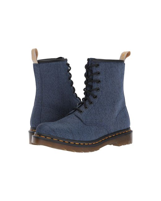 Dr. Martens | Blue Vegan Castel 8-eye Boot | Lyst