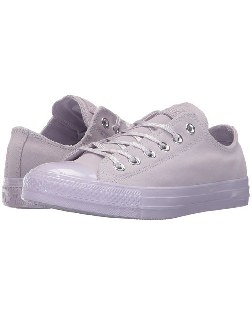 Converse | Purple Chuck Taylor All Star - Mono Plush Suede Ox | Lyst