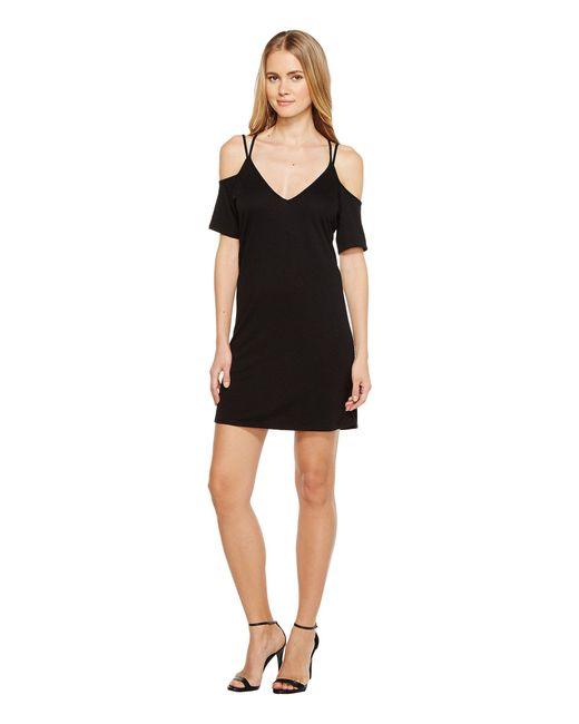Lanston | Black Cold Shoulder X Strap Dress | Lyst