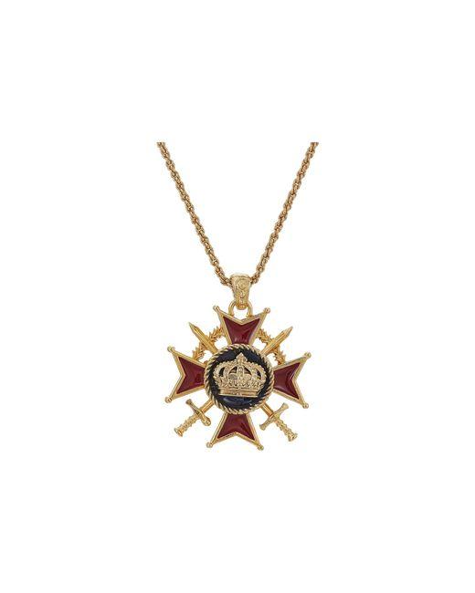 Dolce & Gabbana   Metallic Medallion Necklace   Lyst