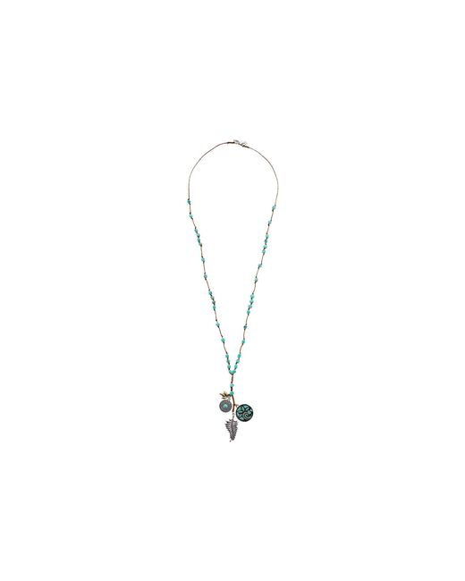 Lucky Brand | Metallic Mosaic Charm Long Necklace | Lyst