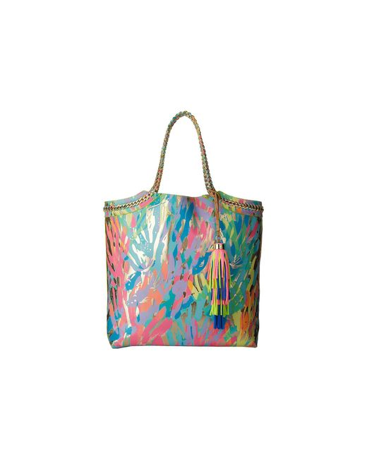Lilly Pulitzer | Metallic Reversible Seaside Tote | Lyst