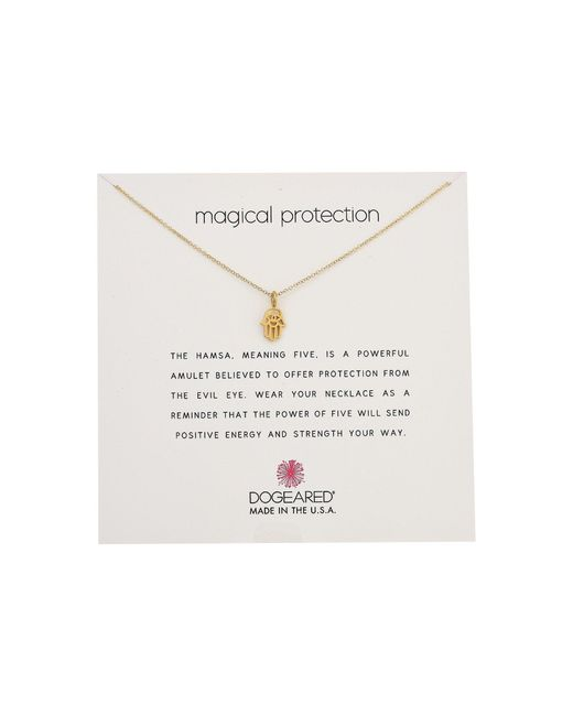 Dogeared | Metallic Magical Protection, Open Hamsa Necklace | Lyst