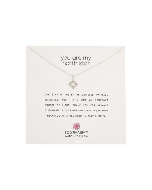 Dogeared | Metallic You Are My North Star, Open North Star Necklace | Lyst
