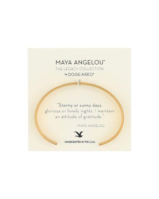 Dogeared | Metallic Maya Angelou: Attitude Of Gratitude: Thin Cuff Bracelet | Lyst