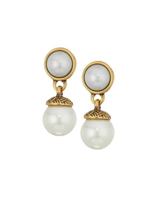 The Sak   Multicolor 8mm Pearl Double Drop Earrings   Lyst