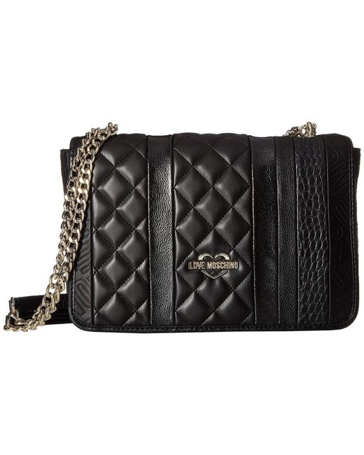 Love Moschino - Fashion Stripes Quilted Shoulder Bag (black) Shoulder Handbags - Lyst