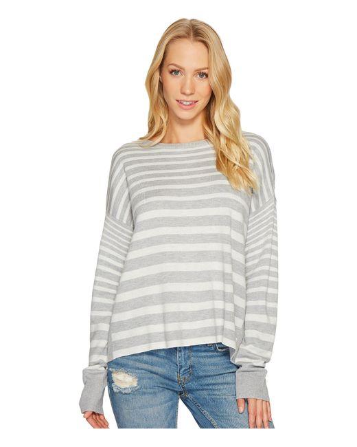 Splendid | Gray Cross-back Sweater | Lyst
