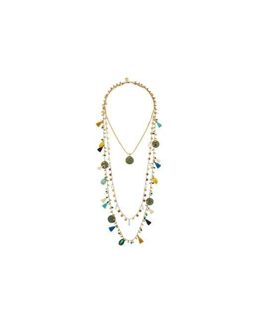 Tory Burch | Blue Tassel Multi-layering Necklace | Lyst