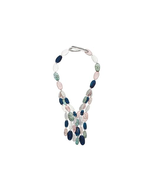 Robert Lee Morris | Metallic Silver And Patina Multi-row Necklace | Lyst