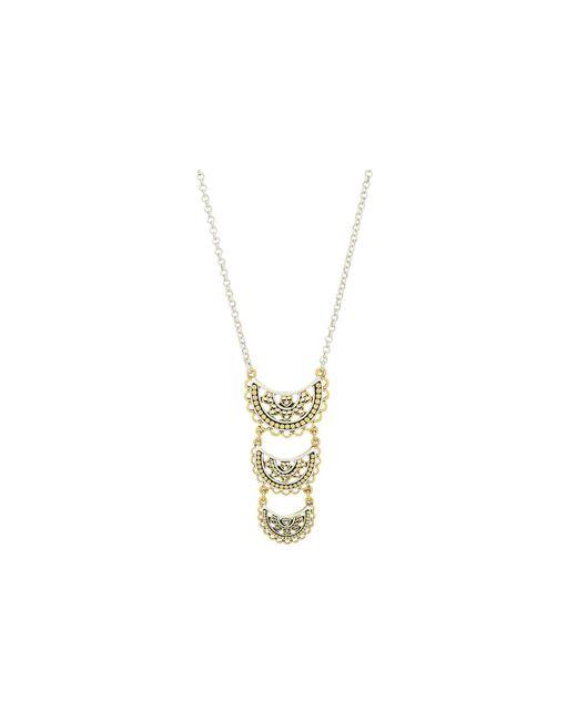 Lucky Brand | Metallic Openwork Three Tier Pendant Necklace | Lyst