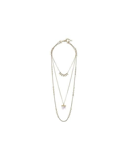 Lucky Brand   Metallic Druzy Lucky Layer Necklace   Lyst