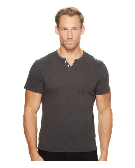 Joe's Jeans | Gray Wintz Short Sleeve Slub Henley for Men | Lyst