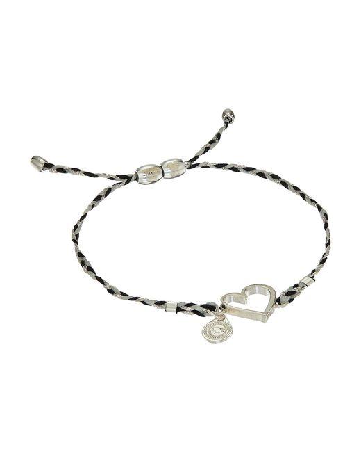 ALEX AND ANI | Metallic Precious Threads Heart Fog Braid Bracelet | Lyst