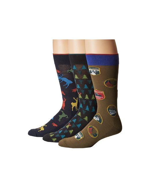 Hue | Blue Big Buck Socks With Half Cushion 3-pack for Men | Lyst