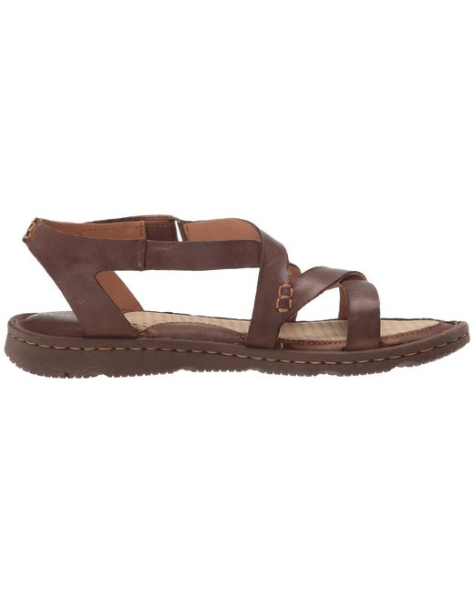 7ca35b555 Lyst - Born Trinidad (dark Brown Full Grain Leather) Women s Sandals ...