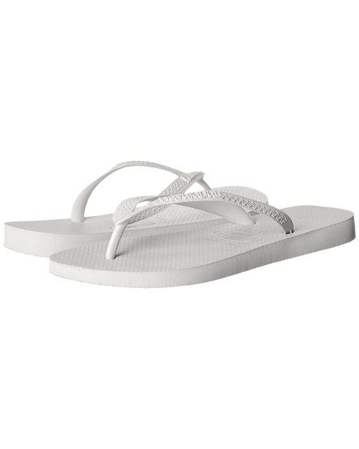 4c65554dc Havaianas - White Top Flip Flops (marine Blue) Men s Sandals for Men - Lyst  ...