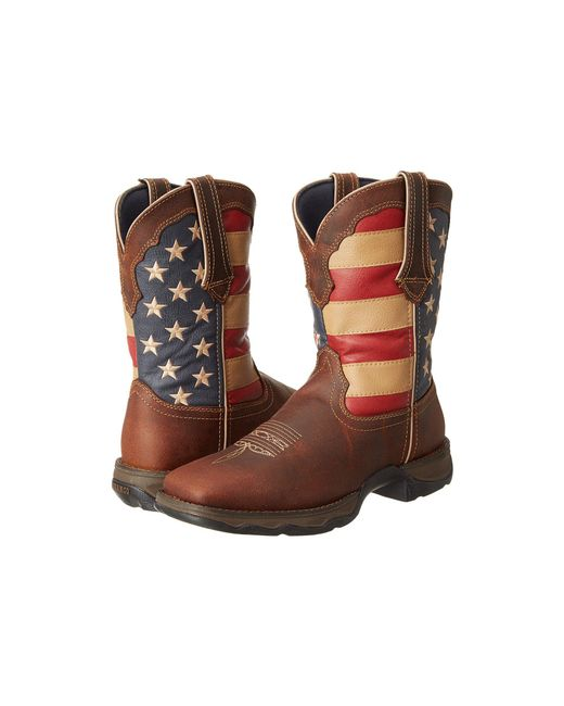Durango - Multicolor Rd4414 - Flag (dark Brown) Women's Pull-on Boots - Lyst