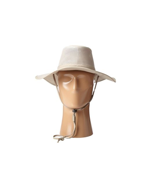 342520919f7 ... Stetson - Natural Big Brim Mesh Safari With No Fly Zone Insect Shield  Fabric (khaki ...
