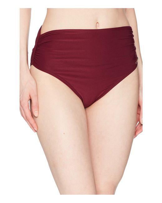 Vince Camuto - Red Shore Shades Convertible High-waist Bikini Bottom - Lyst