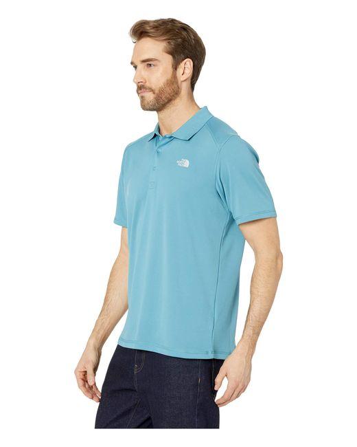 e7049403 ... The North Face - Short Sleeve Horizon Polo (aztec Blue) Men's Short  Sleeve Pullover ...