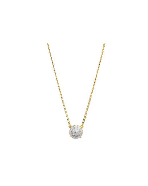 Vince Camuto - Metallic 18 Cubic Zirconia Rivoli Solitaire Pendant Necklace (gold) Necklace - Lyst