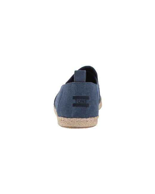 66b5c871c96 ... TOMS - Blue Deconstructed Alpargata Rope (black white Noise Jersey)  Men s Slip On ...