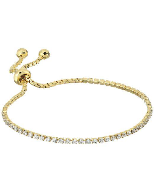 Shashi - Metallic Tennis Slide Bracelet (rose Gold) Bracelet - Lyst