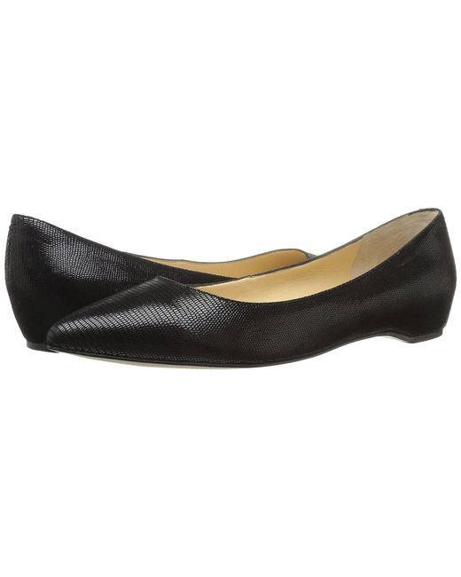 Ivanka Trump - Chic 4 (black Embossed Suede) Women's Shoes - Lyst