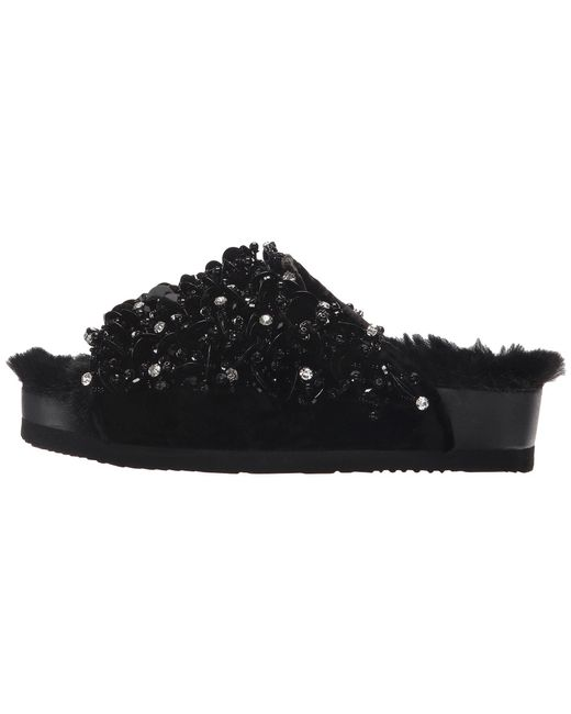 Suecomma Bonnie Embellished Faux Fur Flat Sandals xiYH7s3aYQ