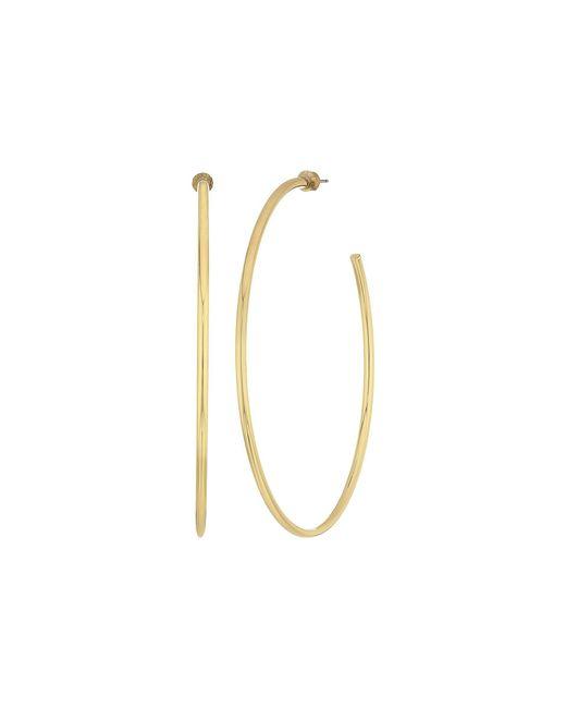 Steve Madden - Metallic Large Open Hoop Post Earrings (gold) Earring - Lyst