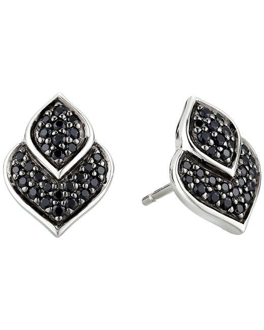 John Hardy - Metallic Legends Naga Stud Earrings With Black Sapphire And Black Spinel (silver) Earring - Lyst