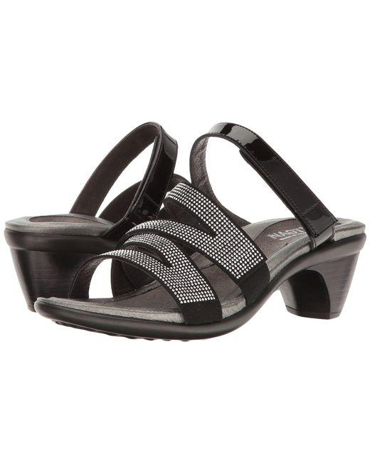 Naot - Black Formal (polar Sea Leather/dark Blue/nickel Rivets) Women's Shoes - Lyst