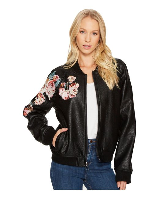 Joe's Jeans | Black Embroidered Poly Jacket | Lyst