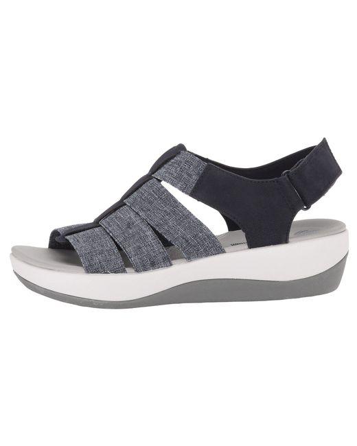 3f0822f10ef ... Clarks - Blue Arla Shaylie (black Elastic Fabric) Women s Sandals ...
